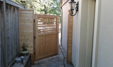 gate opening to back yard
