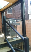 Porch with glass panels