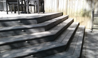 surround steps with foot lighting 16